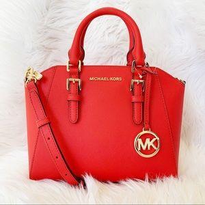 Michael Kors Medium Ciara Leather Satchel